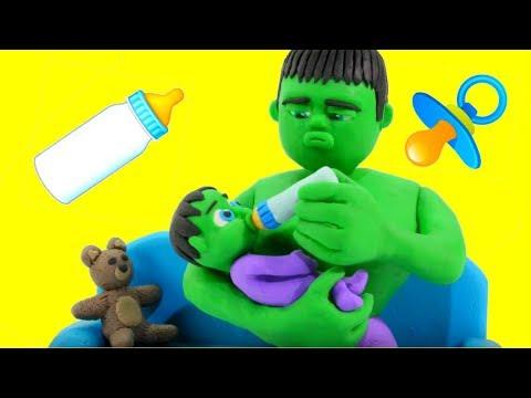 STRONG SUPERHERO BEST BABY SITTER EVER  鉂� SUPERHERO PLAY DOH CARTOONS FOR KIDS