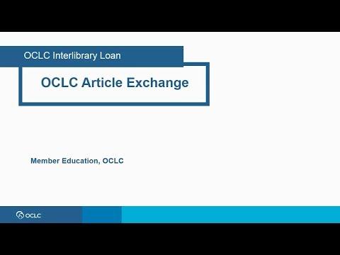 OCLC Article Exchange