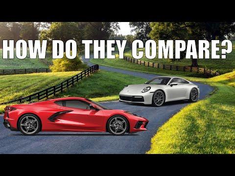 2020 C8 Corvette VS  2020 992 Porsche 911   Past & Present Detailed Comparison   0-60   Horsepower