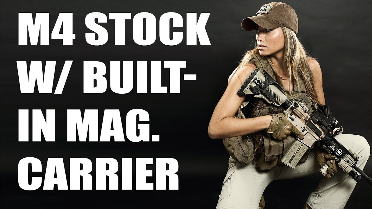 Fab Defense M4 Stock W Built-In Mag Carrier - Zahal Girl -7379