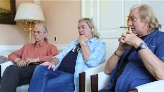 YES interview - Steve Howe - Geoff Downes - Alan White - 2014
