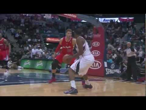 Joe Johnson big game 28 points (amazing buzzer beaters) vs L.A. Clippers 2012.04.24