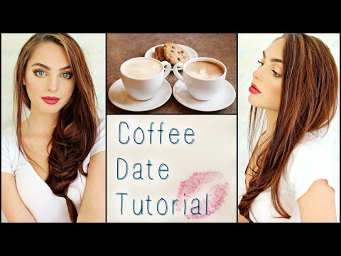 Casual Coffee / 1st Date Makeup, Hair & Outfit! ☕️