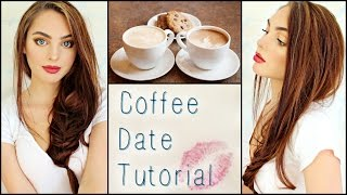 Casual Coffee / 1st Date Makeup, Hair & Outfit! ☕️