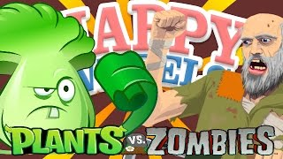 Happy Wheels VS Plants Vs Zombies! | EPIC PvZ Mod CUSTOM HAPPY WHEELS LEVEL!