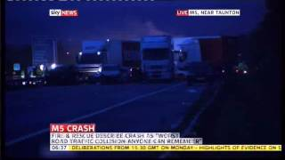 Horrific M5 Crash in Somerset 27 vehicles and some deaths