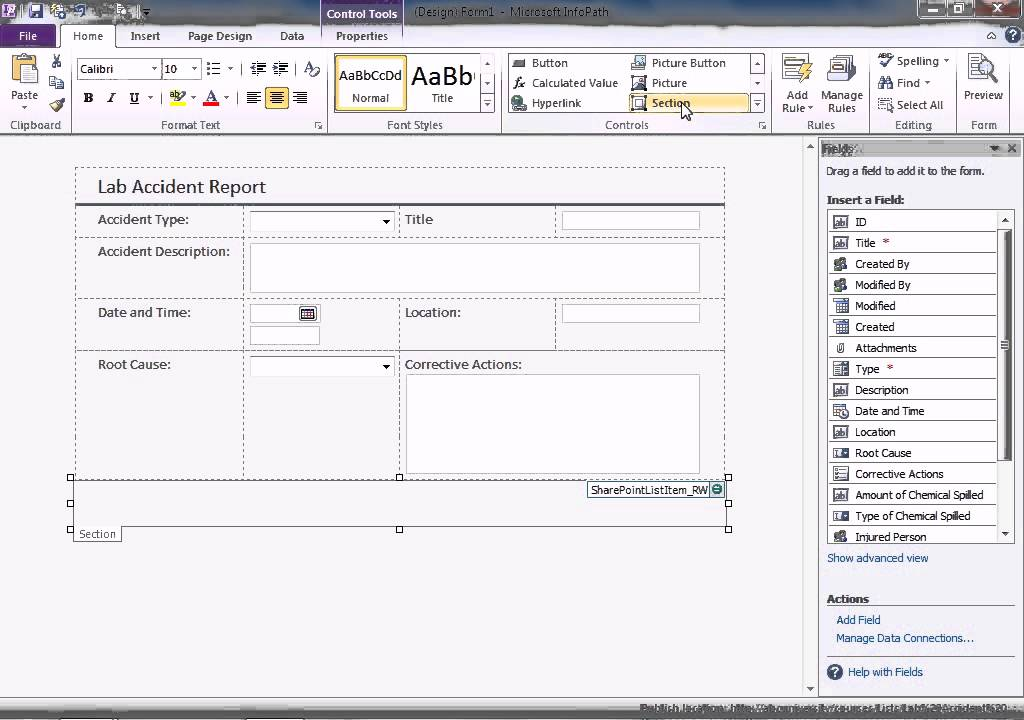 InfoPath 2010 Forms - Layout Logic - SharePoint 2010