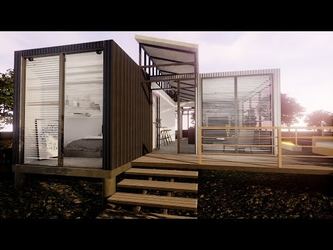 Modern Sq Ft Shipping Container Home Virtual Tour