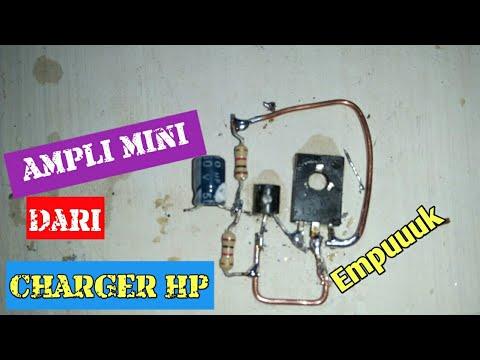 Wow!!! Cara membuat ampli mini dari charger hp bekas