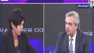 PALIZA MEDIÁTICA: Alberto Fernández dejó en ridículo a Mónica Gutierrez por Cristina Kirchner