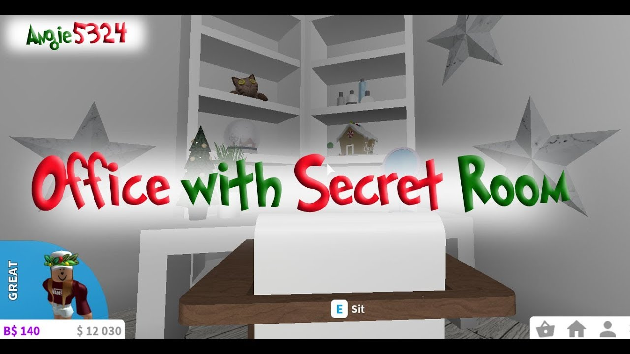 Welcome To Bloxburg Christmas Build #9: Office With Secret