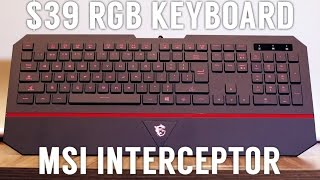 MSI Interceptor DS4100 RGB Keyboard (Unboxing & Review)