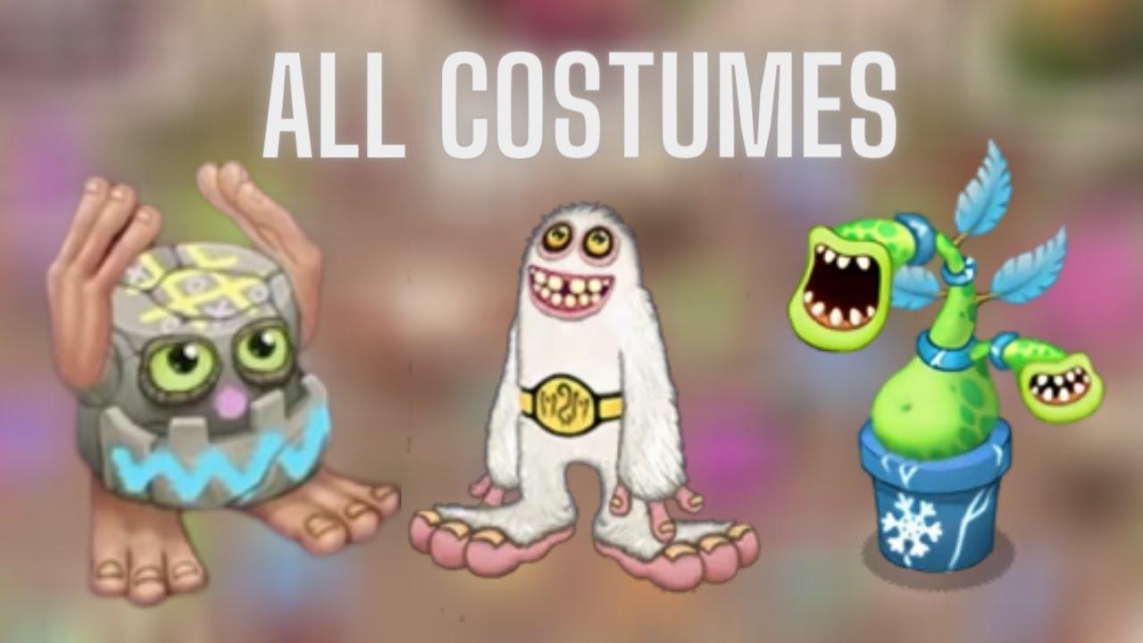 Looking At Every Monster Costume On The Colossingum My Singing Monsters Youtube