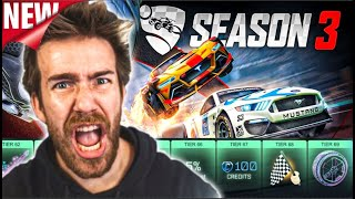 BUYING ALL THE TIERS OF THE NEW ROCKET PASS IN Rocket LEAGUE (Season 3)