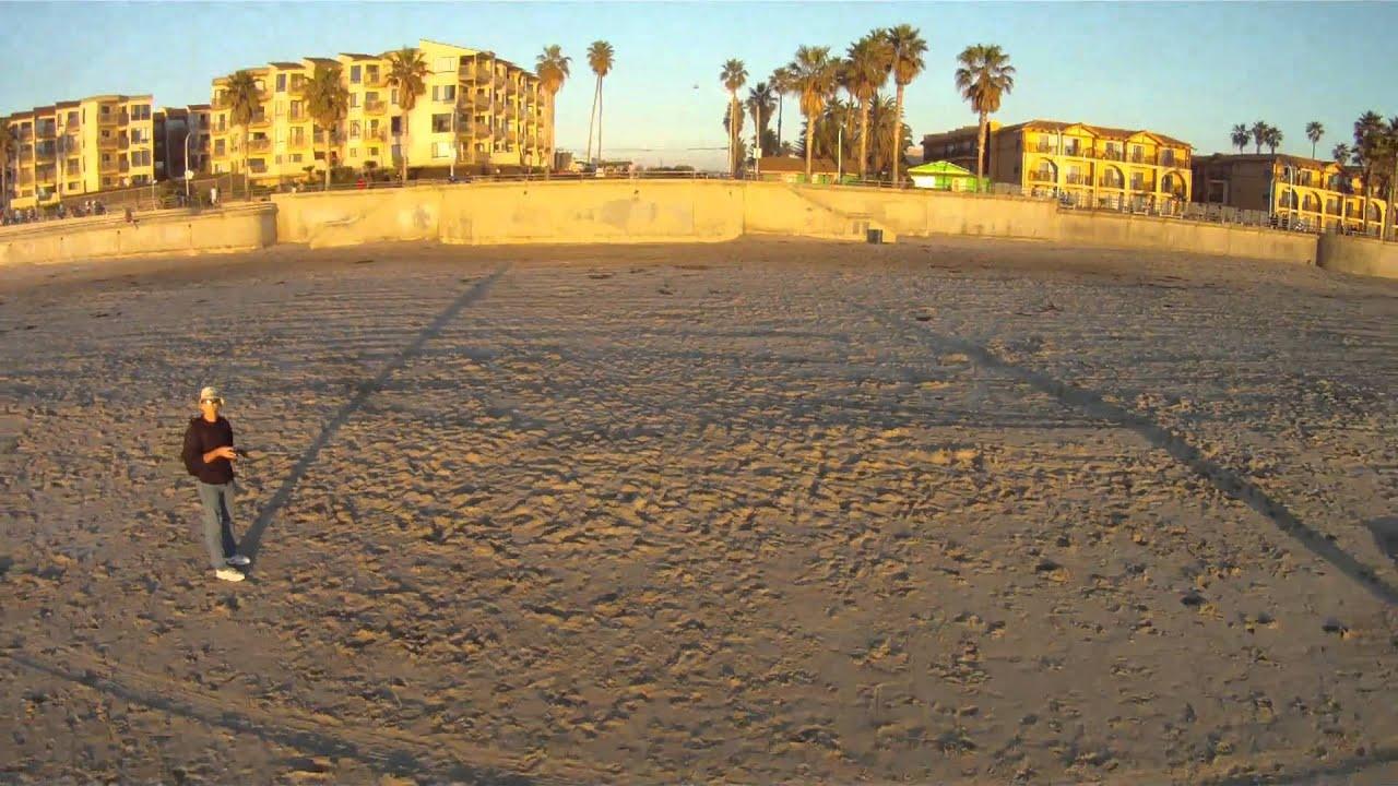 Go Pro Hero Hd Sky Surfer Sunset Ride Pacific Beach San California