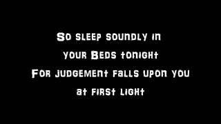 Disturbed The Vengeful One Lyrics Video by BlackWolf Studio