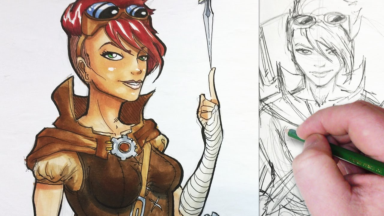Character Design Session Medieval Steampunk Rogue Youtube