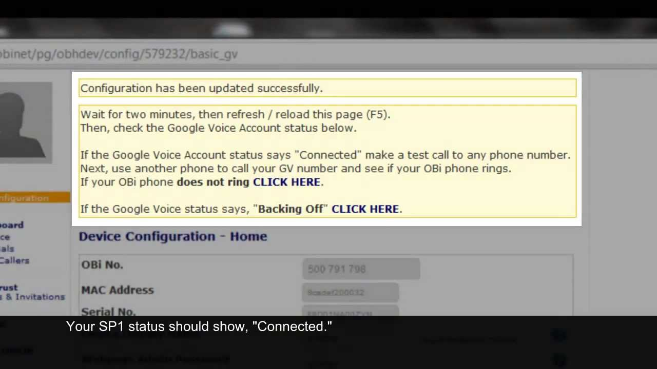Setting Up Google Voice on Your OBi202