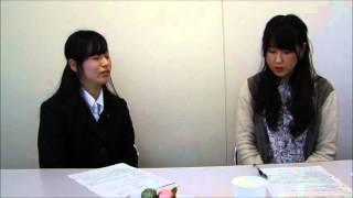 聖徳大学短期大学部 総合文化学科の1年生が2年生に公務員試験について質問をしている.