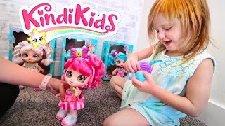 PRETEND PLAY with MOM!! Shopping Routine with my new Kindi Kids toys!
