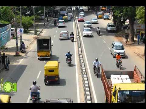 Indiranagar 100 feet road at 2 pm