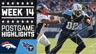 Broncos vs. Titans | NFL Week 14 Game Highlights