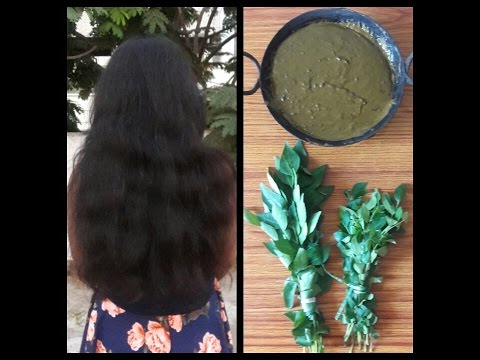 curry leaves henna hair mask