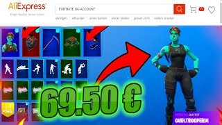 I buy a *ZUFÄLLIGEN* OG Fortnite account for 69,90€ and got that.. 🧟 ♀ (incredible)