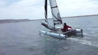 Sailing a catamaran