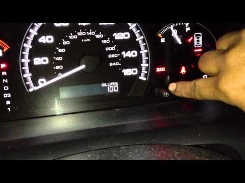 Honda Accord Reseting Oil Life back to 100%