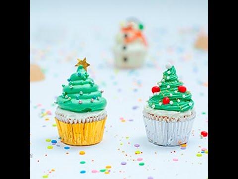 Dolci Di Natale Bambini.Cupcake Ad Albero Di Natale Videoricette Di Dolci Di Natale Per Bambini