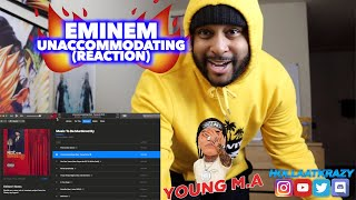 EMINEM & YOUNG M.A - UNACCOMMODATING | THIS CAN PLAY IN THE CLUB!! | REACTION