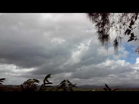 Dinámica nubosa de una mañana en Santo Domingo Oeste.