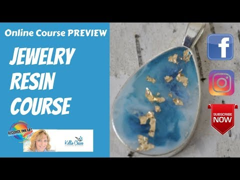 Online Course Jewelry Making For Beginners - Create Art Resin Pendants and Earrings