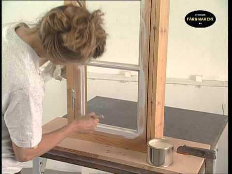 Fensteranstrich fensterglas einsetzen anstrich mit lein lfarbe youtube - Holzfenster streichen mit lasur ...