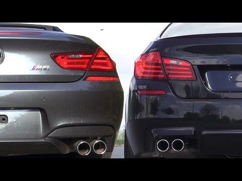 BMW M6 F12 vs BMW M5 F10 Sound Battle V8 Biturbo Cabrio Acceleration 0-270 Review