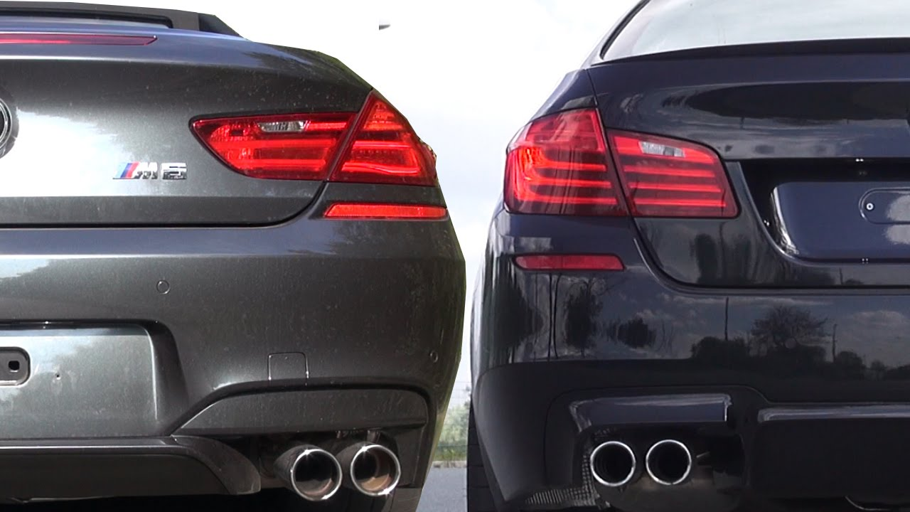 Bmw M6 F12 Vs Bmw M5 F10 Sound Battle V8 Biturbo Cabrio