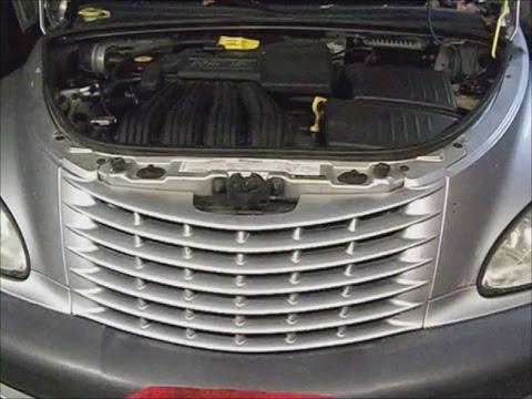 Crysler Pt Cruiser W 2 4l Engine 01 Pt 1 Overheat Diagnose Remove T Stat Center Flush System Youtube