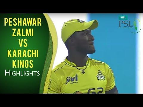 PSL 2017 Match 13: Peshawar Zalmi vs Karachi Kings Highlights