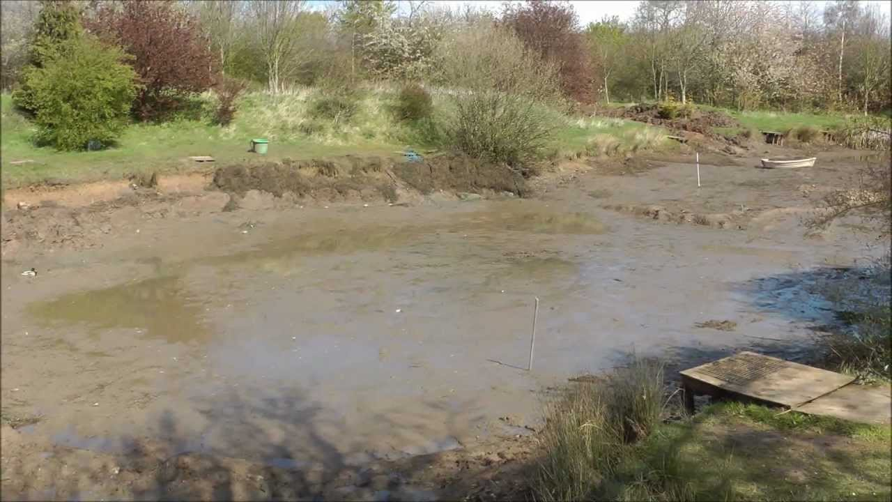 Bradley ponds small pond drained and fish moved to top end for Small pond maintenance