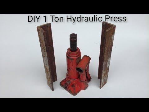 DIY 1 Ton Hydraulic Press