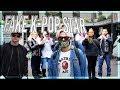 FAKE K-POP MEMBER IN PUBLIC! crowds went crazy!!! fake celebrity prank