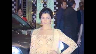 Hot sexy  Deepika Padukone at Nita and Mukesh Ambani' party first visuals