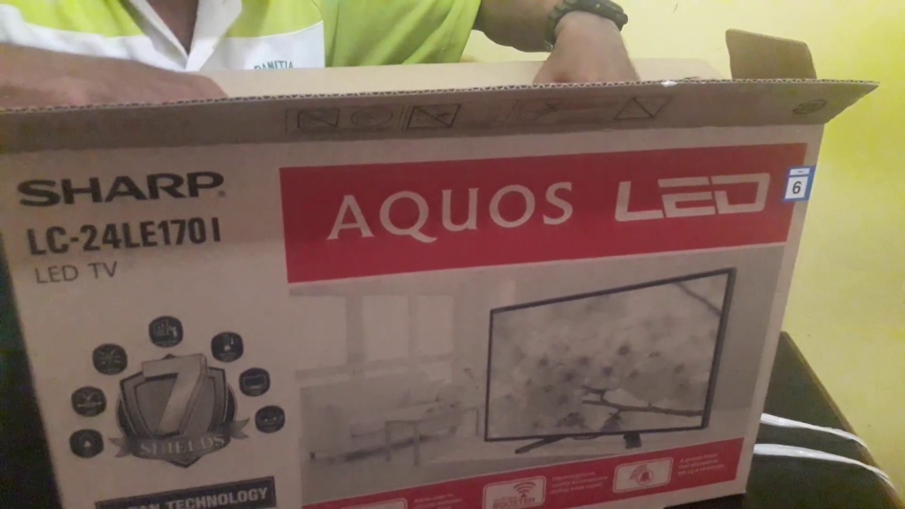 Sharp Aquos Led Tv Lc 24le175i 24 Jernih Unboxing Youtube Lc24le175i