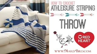 How to Crochet the Athleisure Striping Throw thumbnail