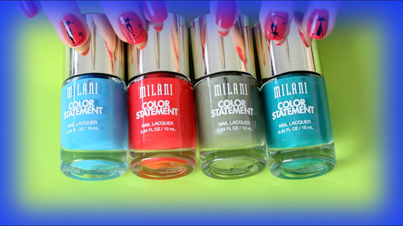 Milani Color Statement Nail Polish Swatches and Review - YouTube