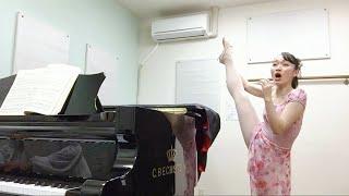 【Y字バランスをしながら歌ってみた】Nel cor più non mi sento 【うつろの心〜もはや私の心には感じない〜(イタリア歌曲)〜