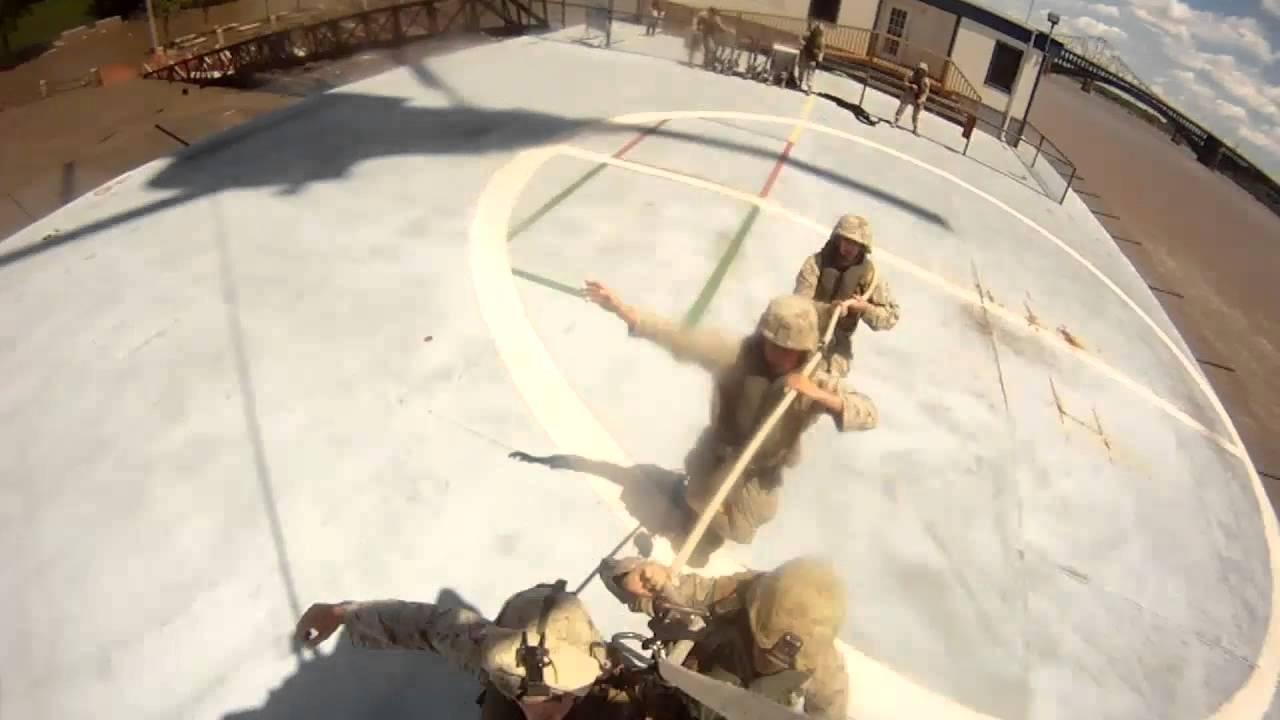 SPIE Rigging Marines with Helmet Cam -- Marine Week St. Louis