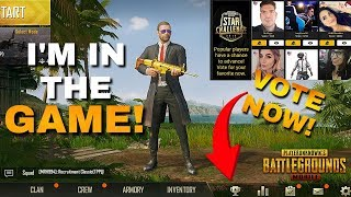 I'M in the GAME! Vote Now for the PUBG Mobile STAR CHALLENGE!