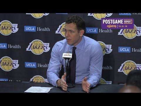 Lakers Post Game Luke Walton (12/21/18)